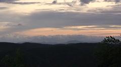 Glorious Mountain Range at Sunset Stock Footage