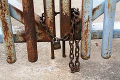 Keyhole gate Stock Photos