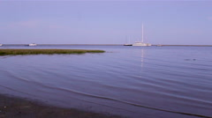 Ria Formosa Natural Park - Cavacos Beach Twilight Stock Footage