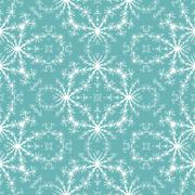 Seamless fractal pattern simulating frost on window Stock Illustration