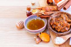 All of thai skin care ingredients - stock photo