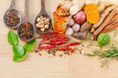 Food Cooking ingredients. - spice tast Stock Photos
