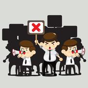 Employees protests - stock illustration