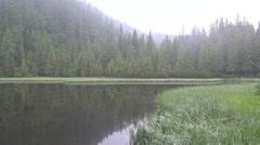 Ukraine, mountain lake Stock Footage