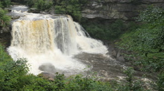 Blackwater Falls West Virginia Backcountry Waterfall Stock Footage