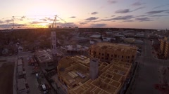 Construction of a Luxury Highrise Stock Footage
