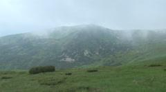 Carpathian Mountains,  mountain lake Stock Footage
