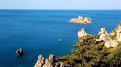 Beautiful landscape on Corfu island - Greece Stock Footage