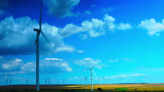Concept Of Using Natural Resources Intelligently.Wind Turbines.Time Lapse, Zoom  Stock Footage