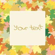 Stock Illustration of Maple leaves (frame)