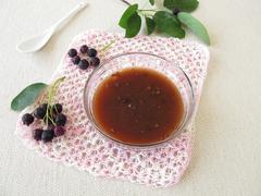 Jam with juneberries Stock Photos