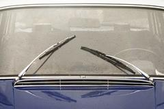 Window with wipers of vintage car Stock Photos