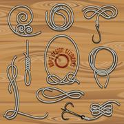 Rope Collection Stock Illustration