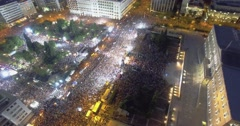 OXI 2015 huge anti austerity demonstration at syntagma square Athens, Greece Stock Footage