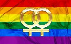 Lesbian symbols - stock illustration