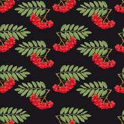 Rowan pattern - stock illustration