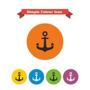 Anchor icon - stock illustration