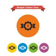 Award ribbon badge - stock illustration
