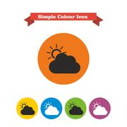 Cloudy weather Stock Illustration