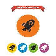 Space rocket Stock Illustration