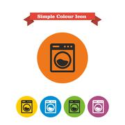 Washing machine - stock illustration