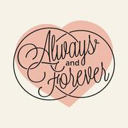 Always and Forever - stock illustration