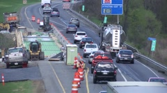 Highway Traffic Bridge Construction Stock Footage