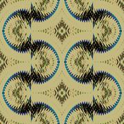 Seamless pattern beige black - stock illustration