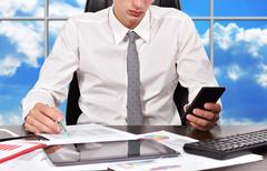 Businessman working in office Stock Photos