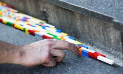 Lego blocks art work Stock Photos