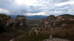 Meteora monasteries in Greece. Stock Footage