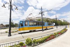 Tram in Sofia, Bulgaria - stock photo