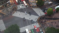 Pedestrians at Shibuya crossing Stock Footage