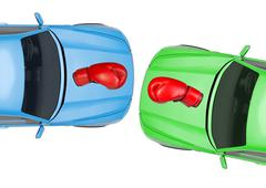 Colorful cars - stock illustration
