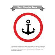 Anchor icon Stock Illustration
