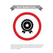 Medal with star sign - stock illustration