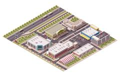 Stock Illustration of Vector isometric shopping district