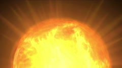 4k Fire ball sphere nebula background,magic power energy tech,nuclear atom. Stock Footage