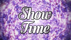 Show Time 3D Text, Loop, 4k - stock footage