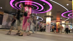 A time lapse in the underground passage of Shibuya Station in Tokyo, Japan Stock Footage