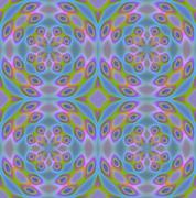 Seamless pattern blue purple - stock illustration