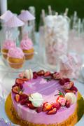 Dessert table for a party. Stock Photos