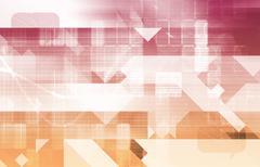 Telecommunications Network - stock illustration