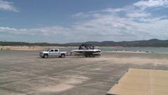 CALIFORNIA DROUGHT 2015 FOLSOM LAKE LOW DRY WATER LEVELS Stock Footage