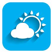 Sun with cloud Stock Illustration