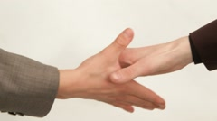 Handshake Means That The Transaction Is Concluded - stock footage