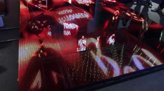4k Illuminated dance floor and lighting installation exhibition - stock footage