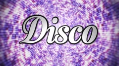 Disco 3D Text, with Alpha Channel, Loop, 4k - stock footage