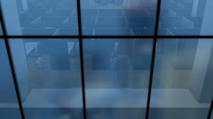 Office building, office cubicle partitions. Stock Footage