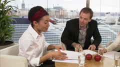 A business meeting, Sweden. Stock Footage